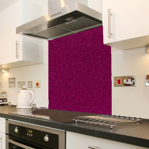 Fuscia Galaxy Sparkle Coloured Glass Splashback